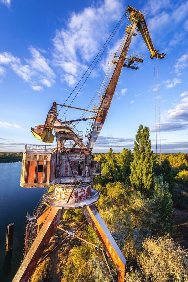 Żuraw w Chernobyl strefie zdjęcie royalty free