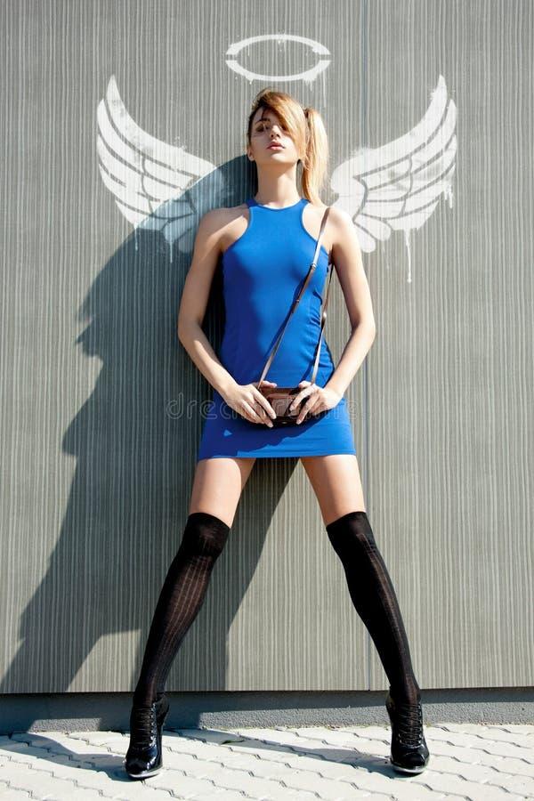 Urban angel royalty free stock photo