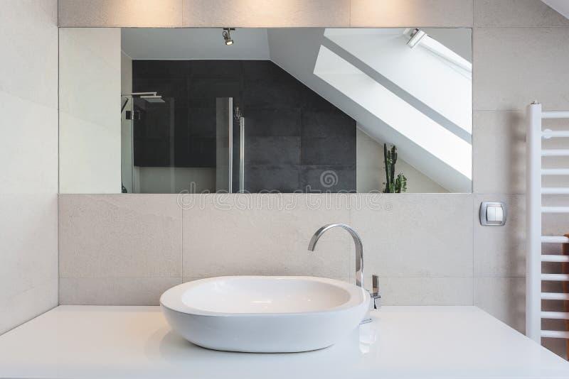 Urban apartment - bath counter stock photography
