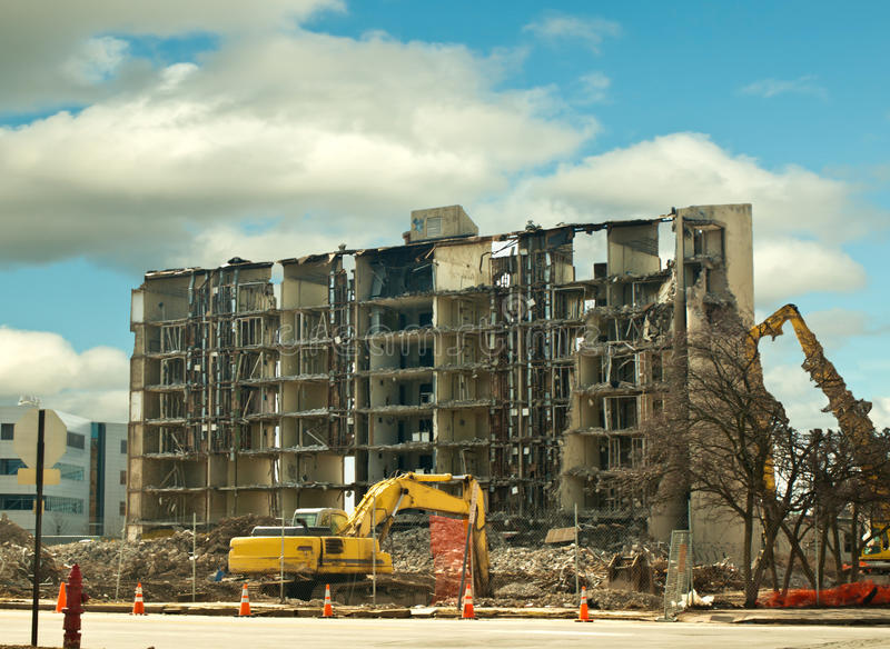 Download Building demolition stock image. Image of structure, shell - 29899045
