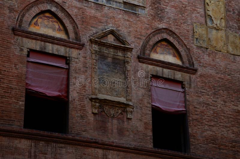 Urban architecture in the city center , Bologna, Italy. Urban architecture in the city center of Bologna, Italy royalty free stock photography