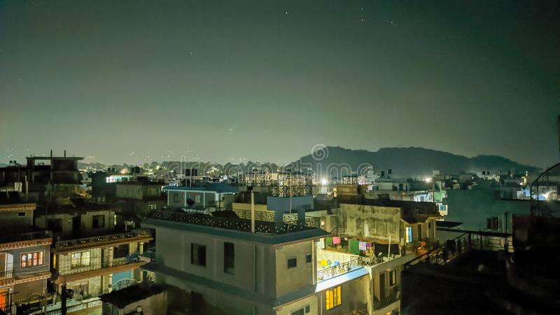 Urban area at evening royalty free stock images