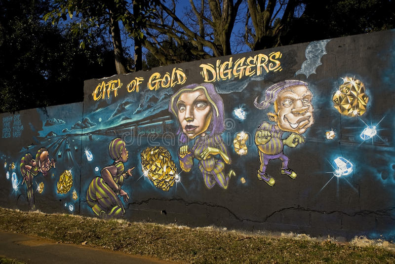 Urban Art Festival - City Of Gold Diggers royalty free stock images
