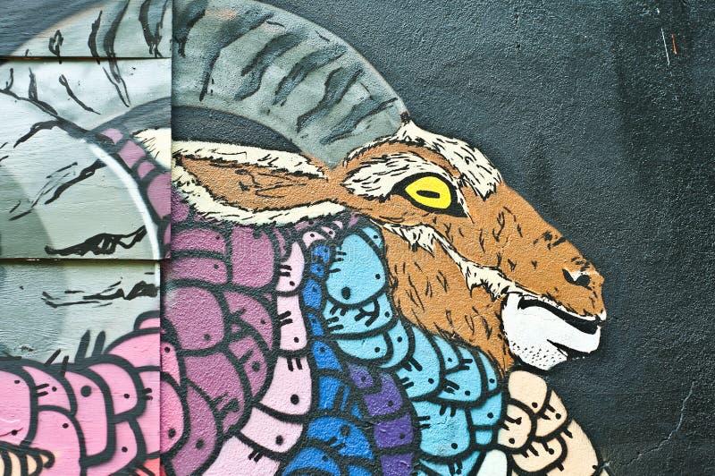 Urban Art - goat stock images