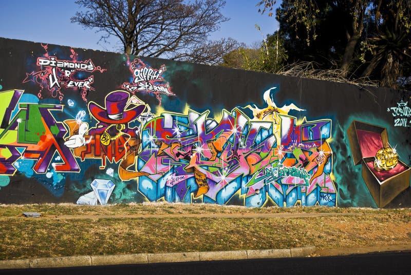 Urban Art - Graffiti Friday - Grafitti Wall stock photography