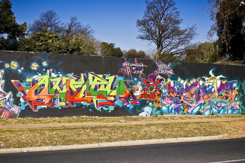 Download Urban Art - Graffiti Wall - Graffiti Friday Editorial Image - Image: 20584320