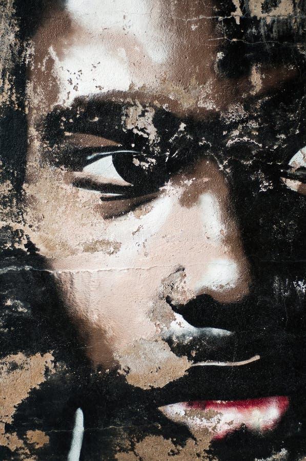 Urban art - man face royalty free stock image