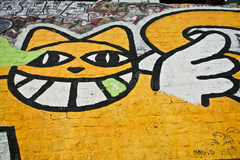 Urban art - mister cat royalty free stock image