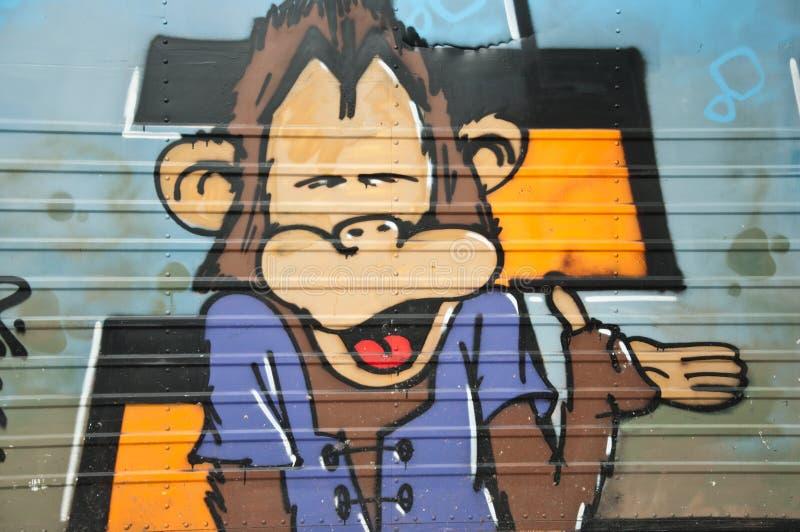Urban art - Monkey royalty free stock photos