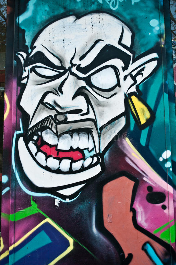 Urban art - monster royalty free stock photo