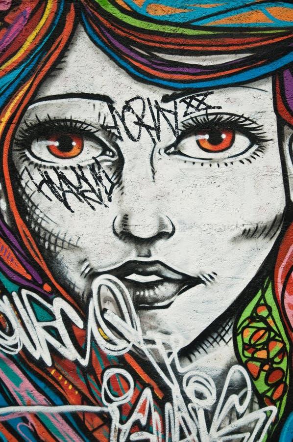Urban art - woman stock photos