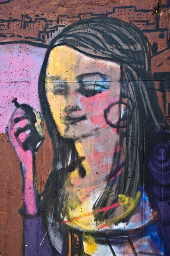 Urban art - woman royalty free stock photo