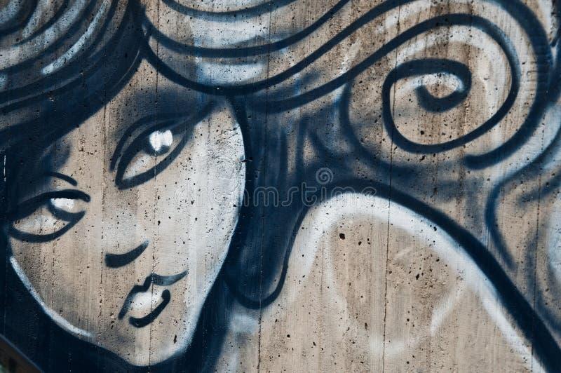 Urban art - woman royalty free stock photography