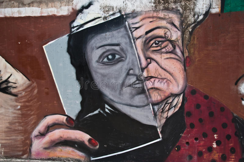 Urban art - woman royalty free stock images