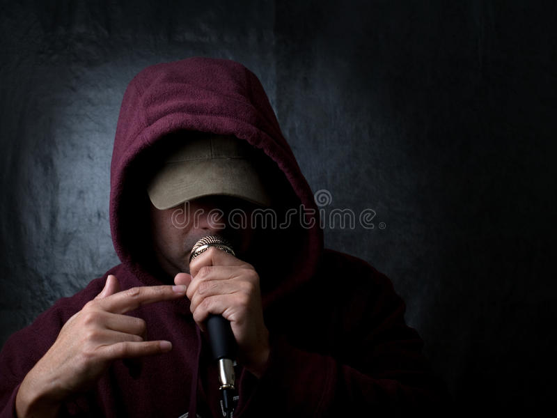 Urban artist - rapper stock images
