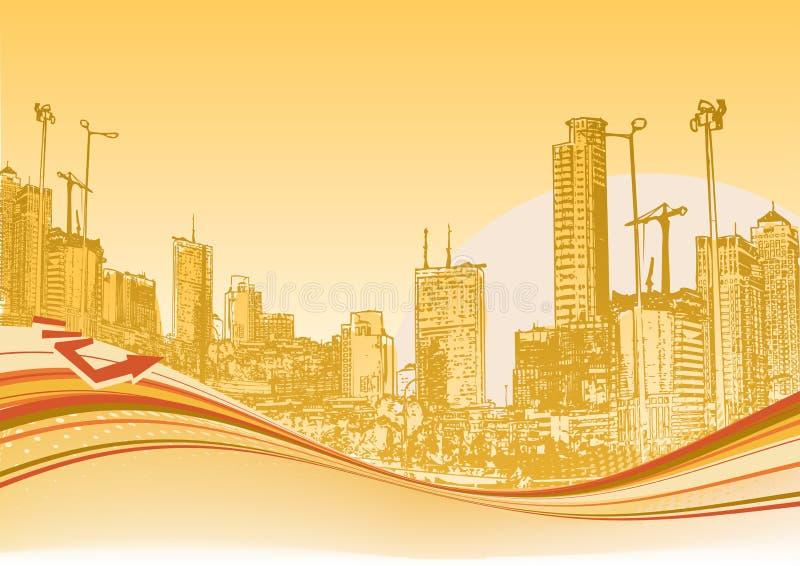 Urban background vector illustration