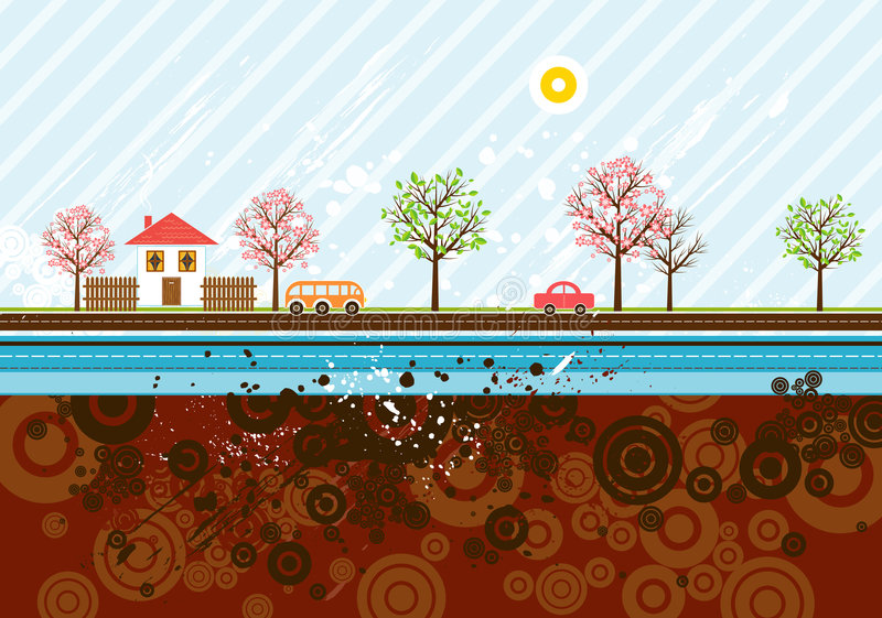 Urban background, vector stock illustration