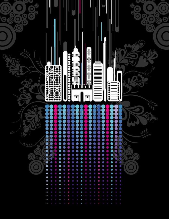 Urban background, vector royalty free illustration