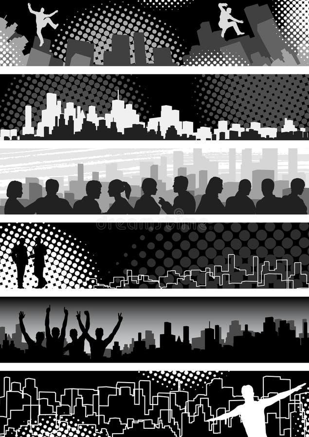 Urban banners royalty free illustration
