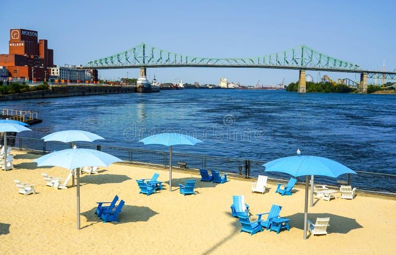 Urban beach royalty free stock photography