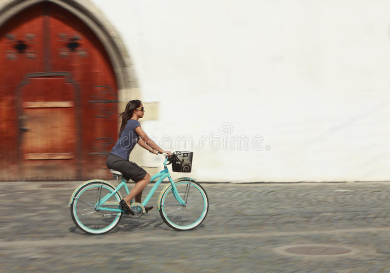Download Urban Bicycle Ride stock photo. Image of action, building - 11938528