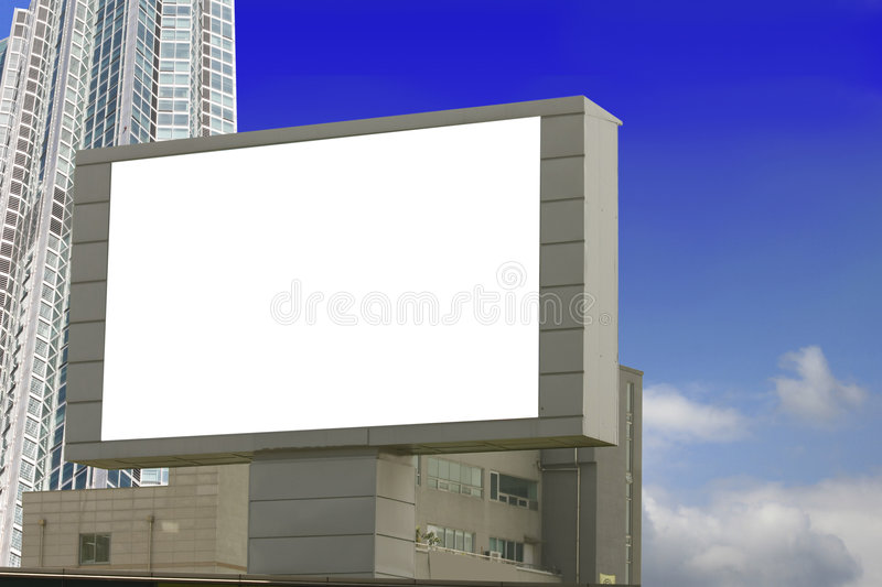 Download Urban Billboard stock image. Image of background, white - 9270725