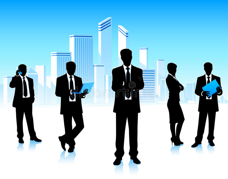 Download Business Team Meeting In City Stock Vector - Image: 33729141