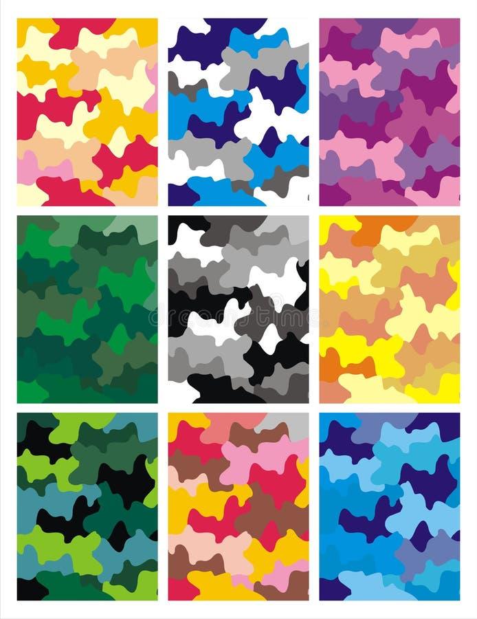Urban camo pattern background vector illustration