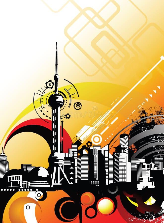 Urban City royalty free illustration