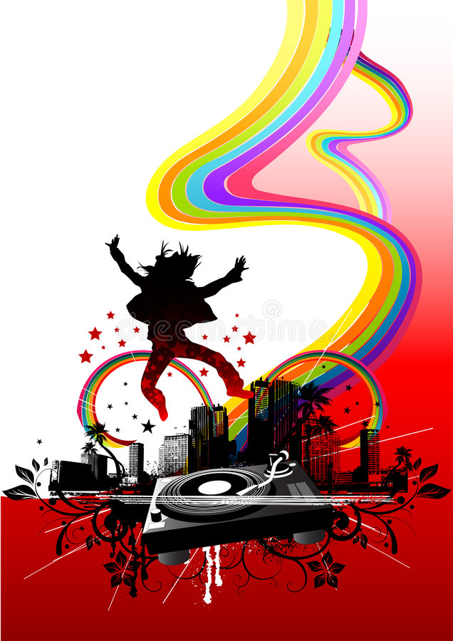 Download Urban City Party stock vector. Image of graphic, painting - 3627031