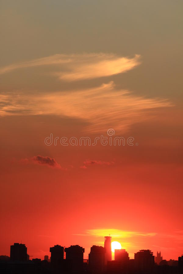 Download Urban City Sunset Stock Photography - Image: 18798422