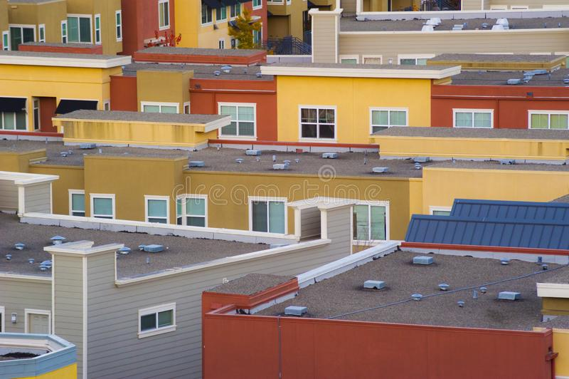 Urban Clutter - San Francisco Homes stock photography