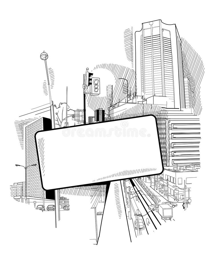 Download Urban collage with a hatch stock vector. Illustration of downtown - 18995700