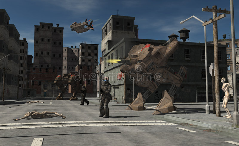 Download Urban Combat Patrol - Zombie Central Stock Photography - Image: 9229882