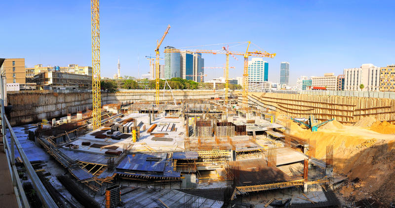 Construction Site Cranes royalty free stock photos