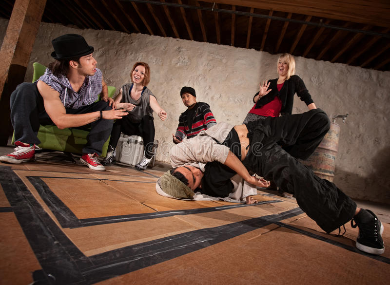 Urban Dancers Practicing stock images