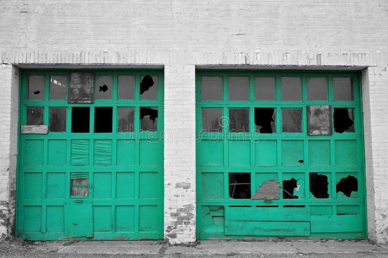 Urban Decay Garage Doors Stock Photo Image Of Wall Broken 60689692