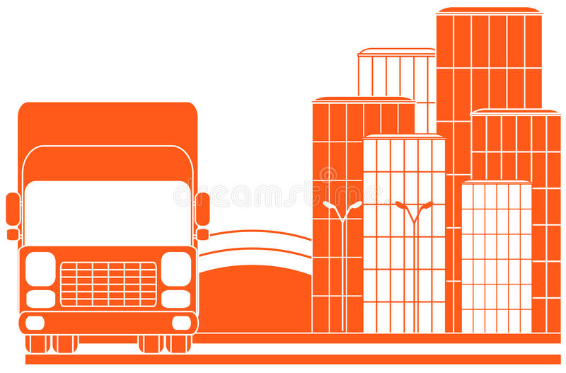 Download Urban Delivery Sign With Lorry Stock Vector - Image: 21650902