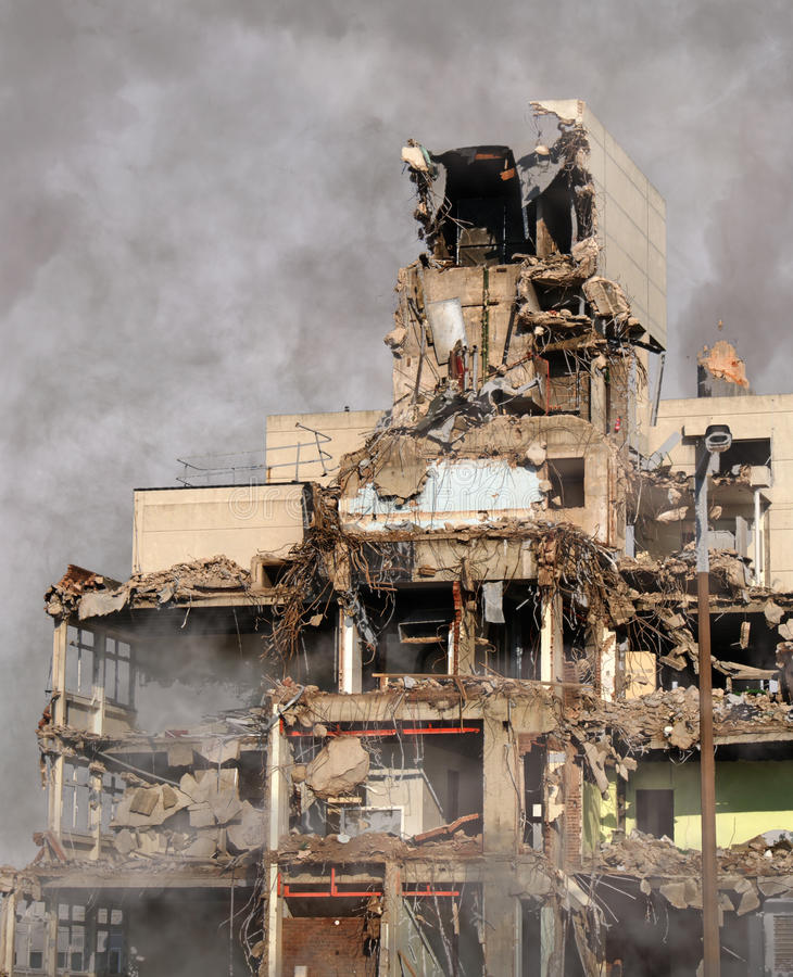 Urban Destruction stock photos