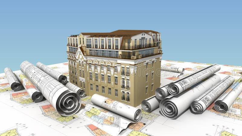 Urban elite construction royalty free stock photo