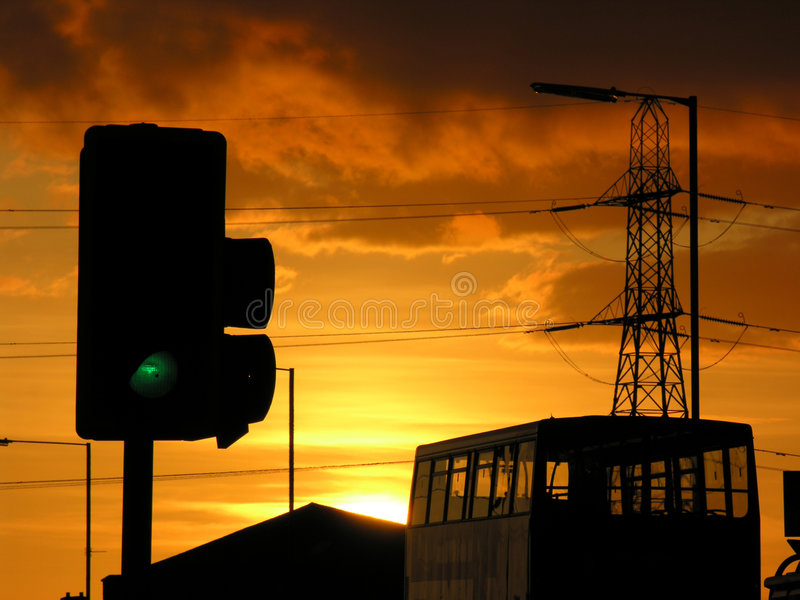 Urban Evening royalty free stock images