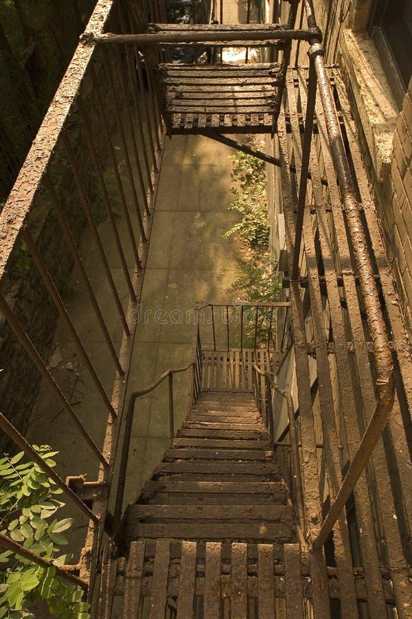 Urban fire escape royalty free stock photos