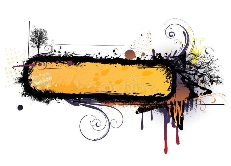Urban floral frame royalty free illustration
