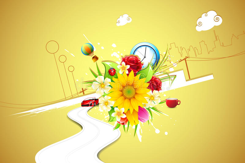 Download Urban Flower stock vector. Image of blossom, macro, cityscape - 22053833