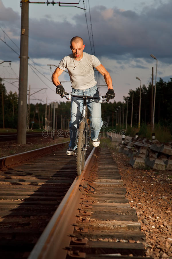 Download Urban Freestyle Tial Rider Royalty Free Stock Photography - Image: 10857977