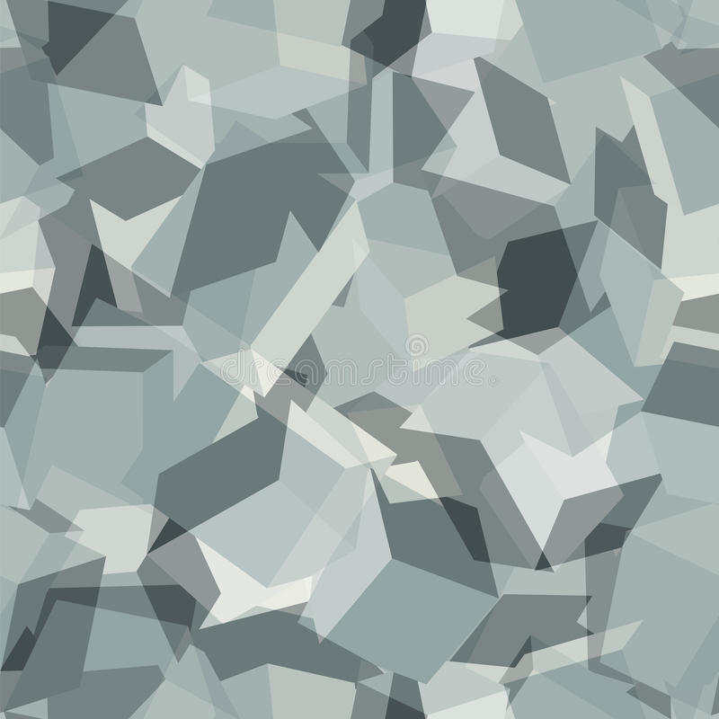 Urban geometric camouflage. Digital seamless pattern. vector illustration