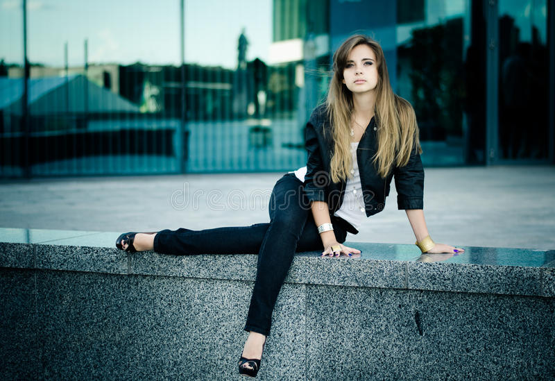 Download Urban girl stock photo. Image of crossed, caucasian, flare - 26212544