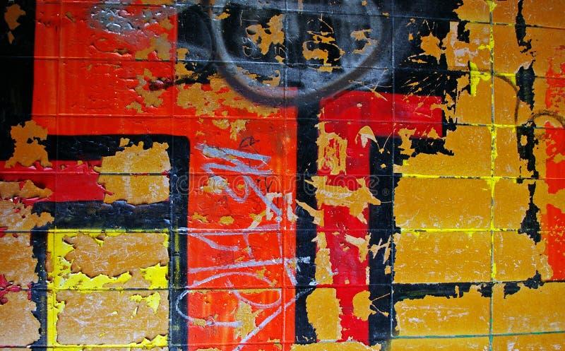 Urban graffiti wall stock photo