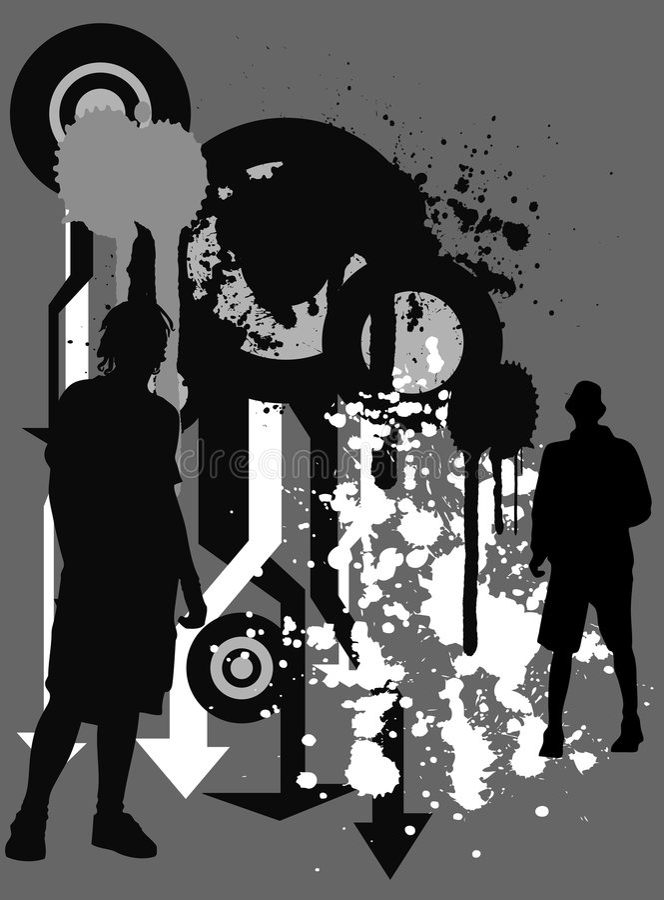 Download Urban grunge BG stock illustration. Image of image, subculture - 1491134