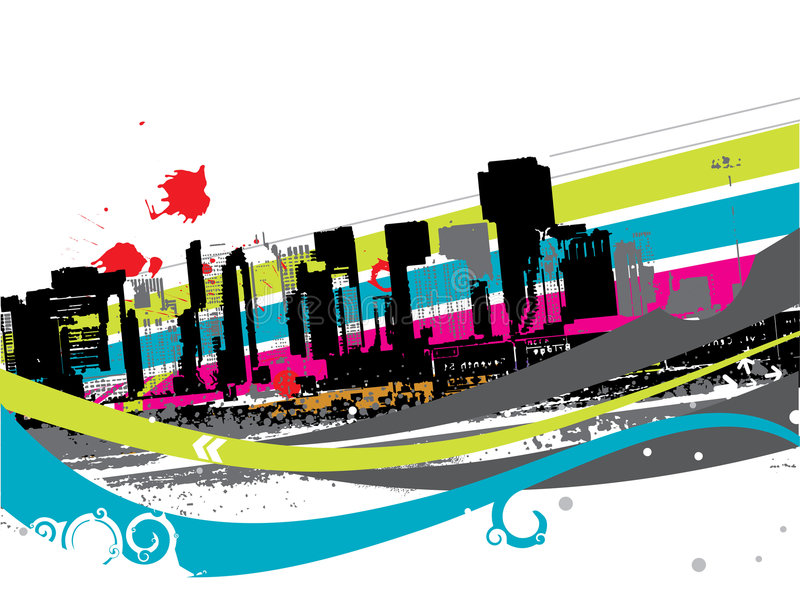 Download Urban grunge city stock vector. Image of destination, line - 8825903